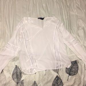 White sheer long sleeve